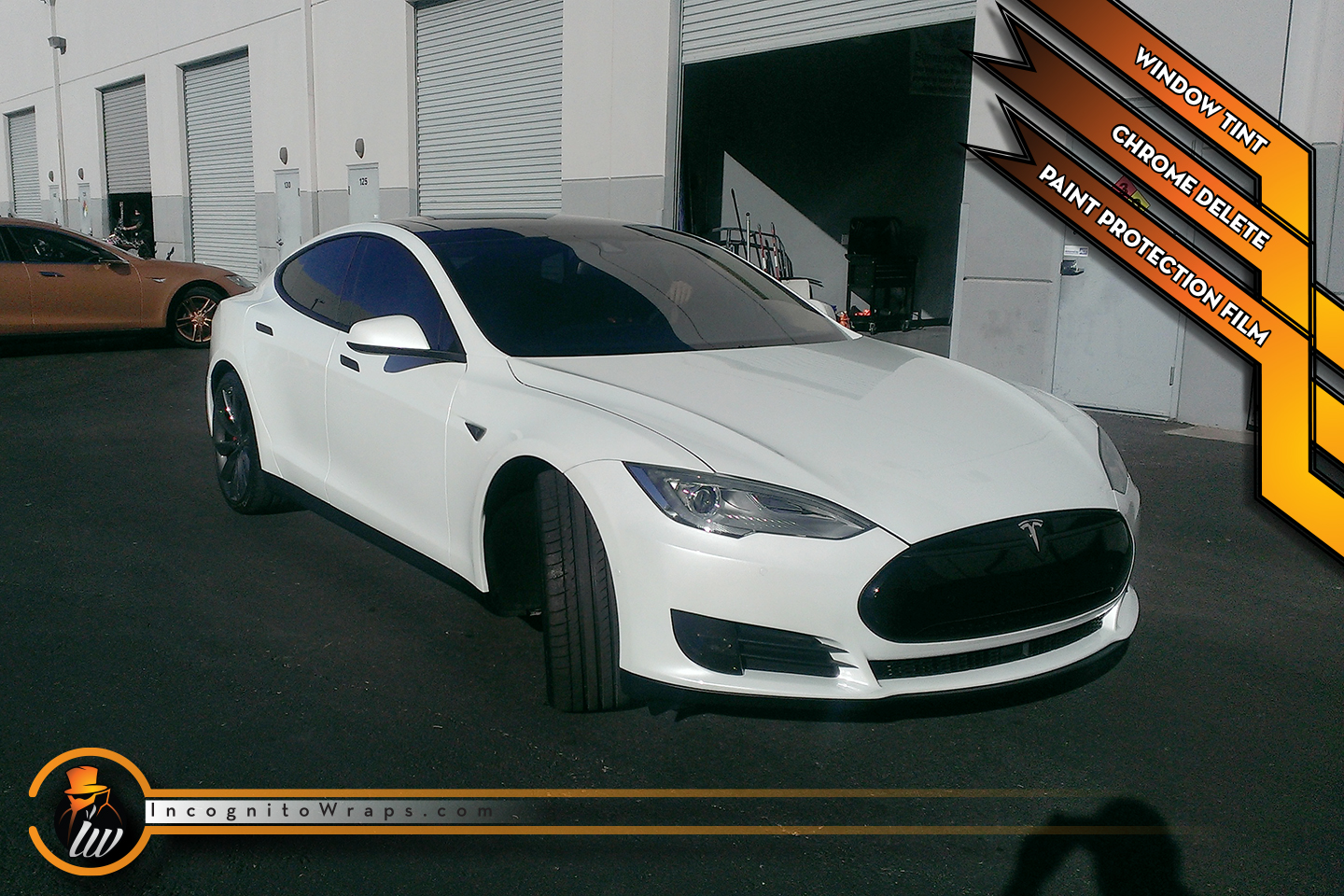 Tesla Model S - Gloss Black Chrome Delete and Paint Protection Film