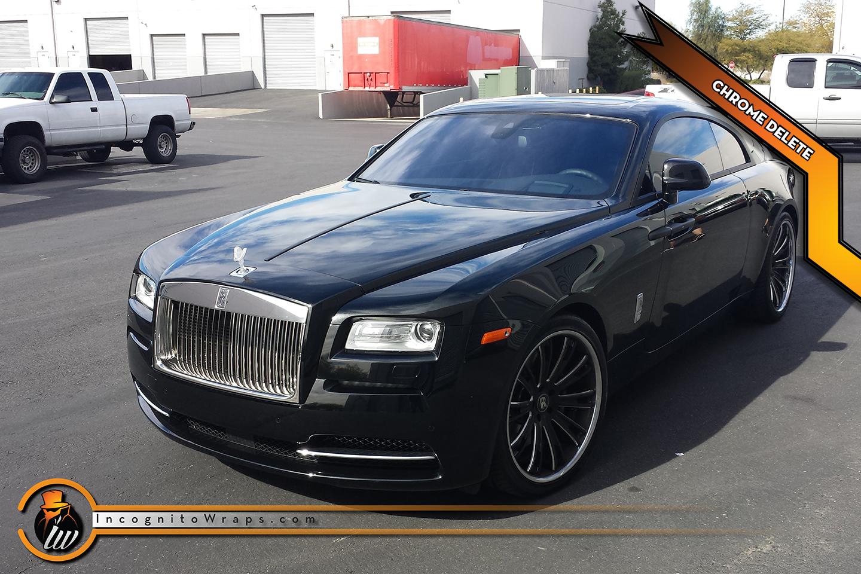 Rolls Royce Wraith - Matte Black Chrome Delete