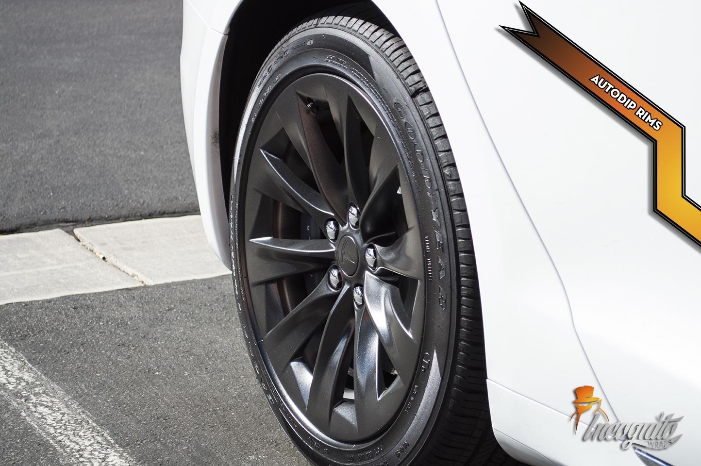 Tesla Model S - Onyx Black Auto Dip Rims