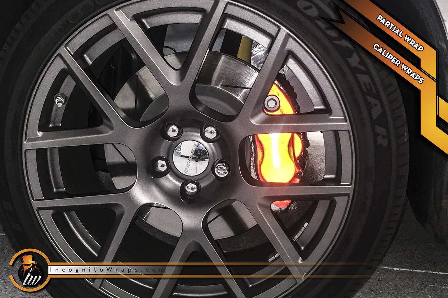 Dodge Challenger - Reflective Red Calipers and Carbon Fiber Accents