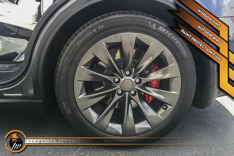 Tesla Model X - Metallic Auto Dip Rims and Full Paint Protection Film