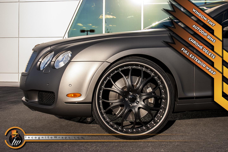 Bentley Continental - Matte Grigio and Auto Dip Rims