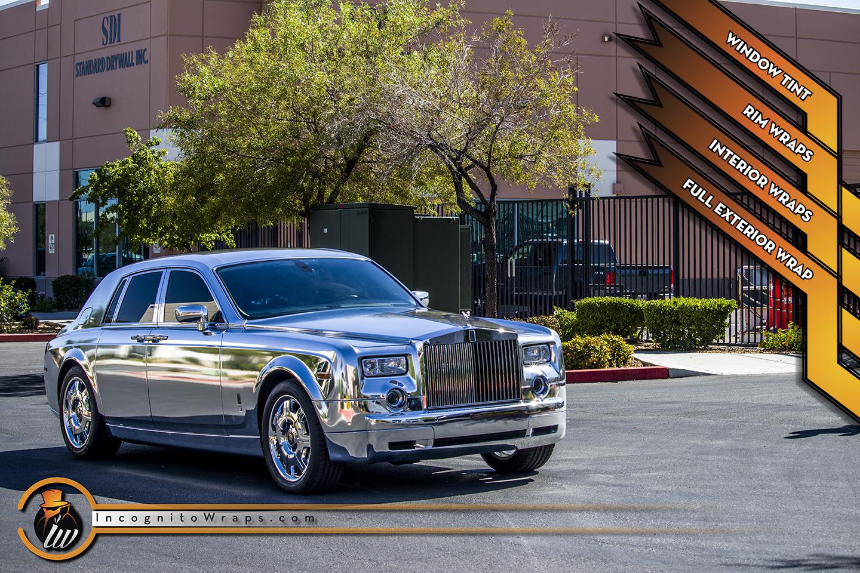 Rolls Royce Phantom - Full Chrome Wrap with Rims and Interior