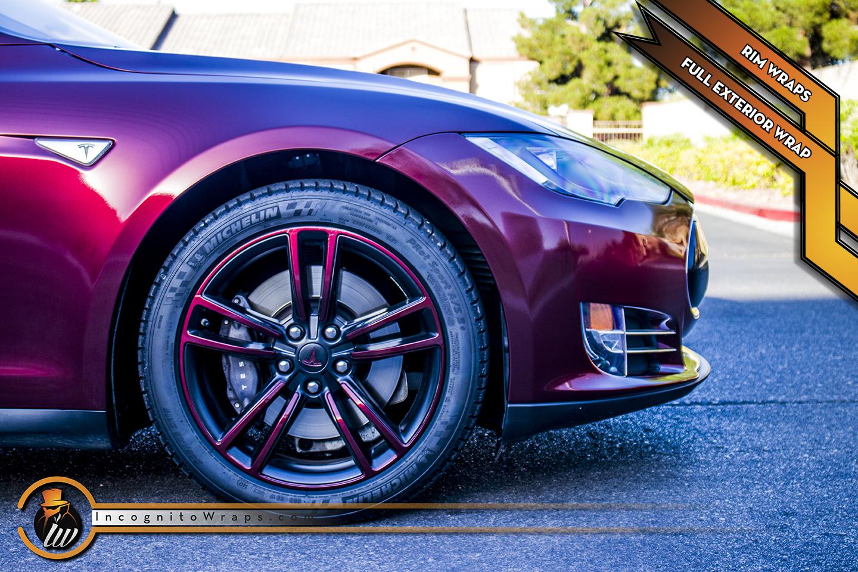 Tesla Model S - Red Black Iridescent