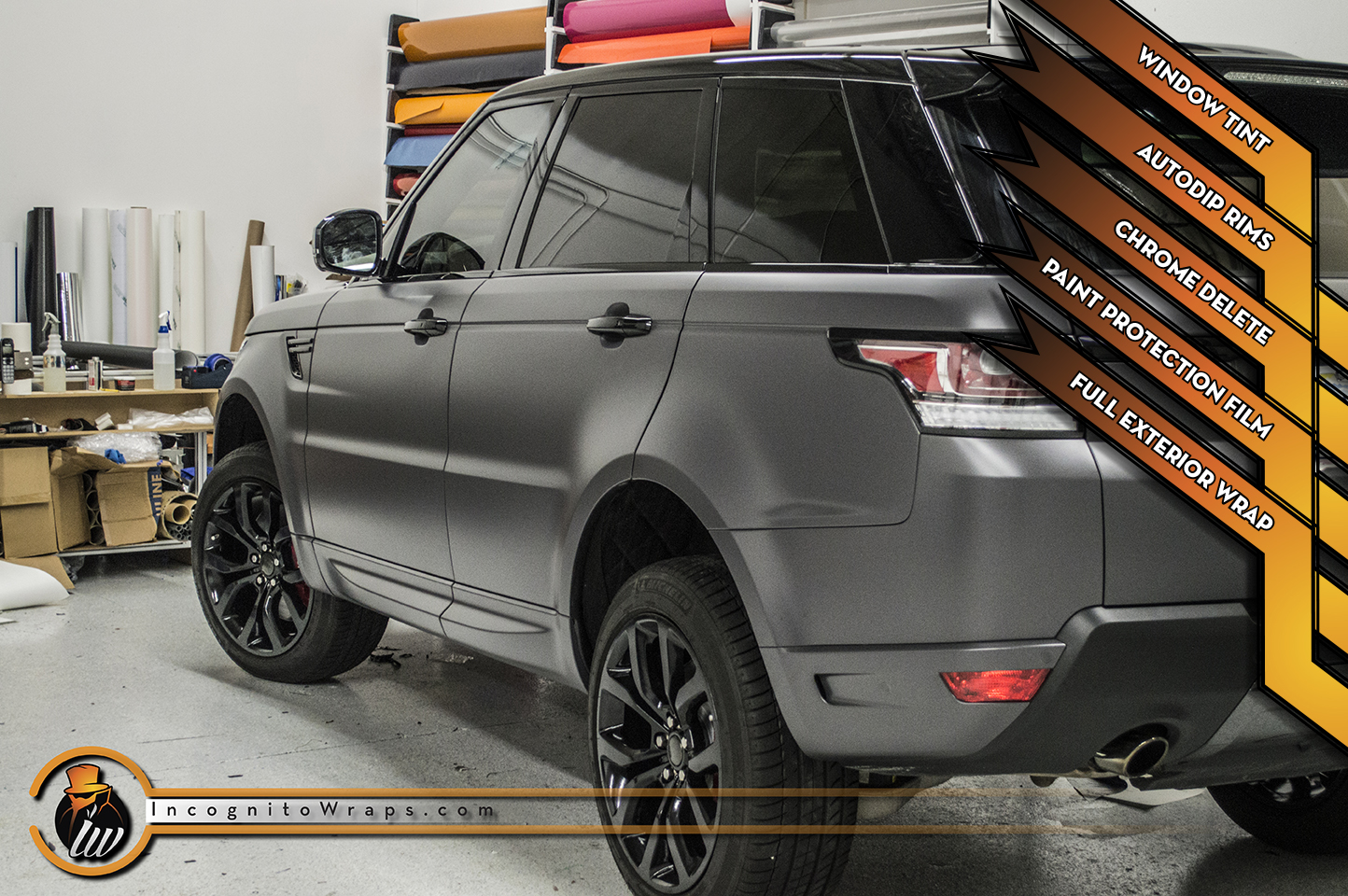 Range Rover Sport Autobiography - Matte Anthracite with Gloss Black Rims and Chrome Delete