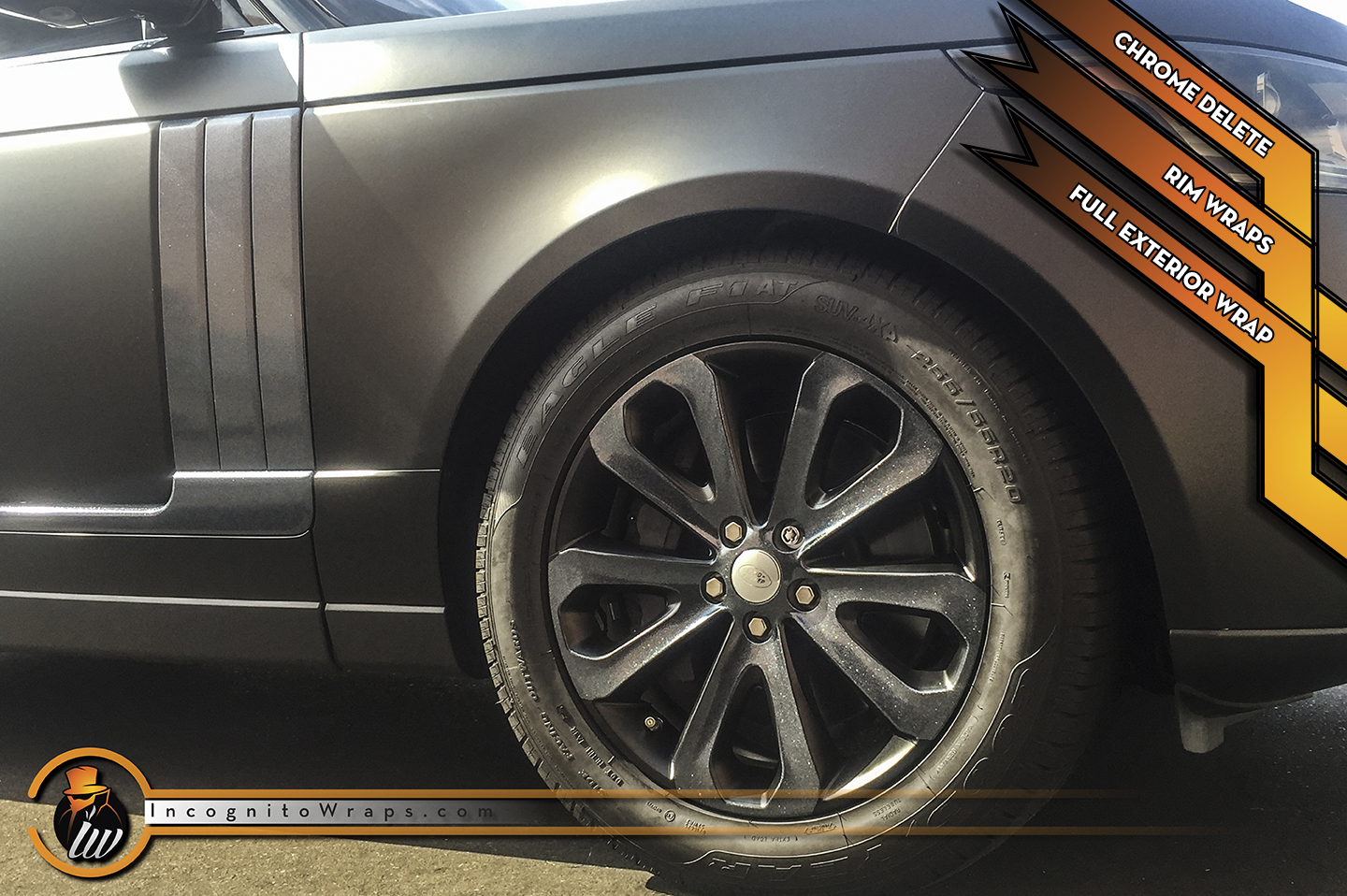Range Rover - Satin Black with Black Galaxy Accents