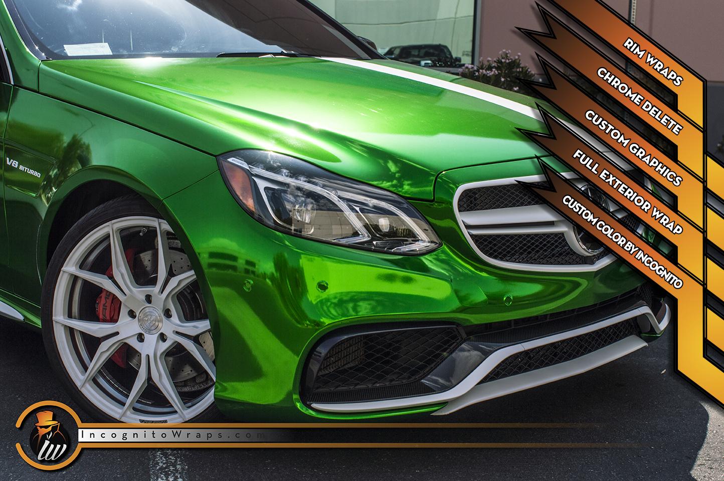 Mercedes E 63 S - Custom Candy Green Chrome