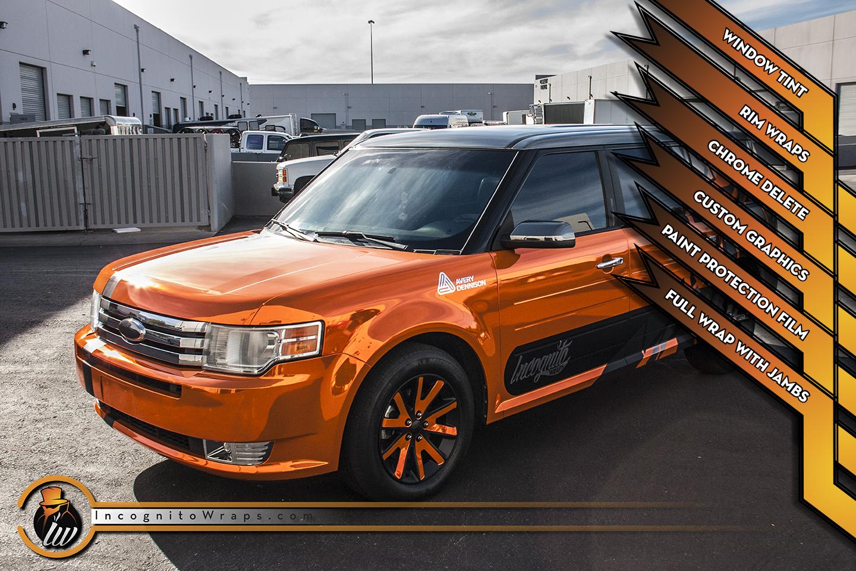 Ford Flex - Orange Chrome with Rims and PPF