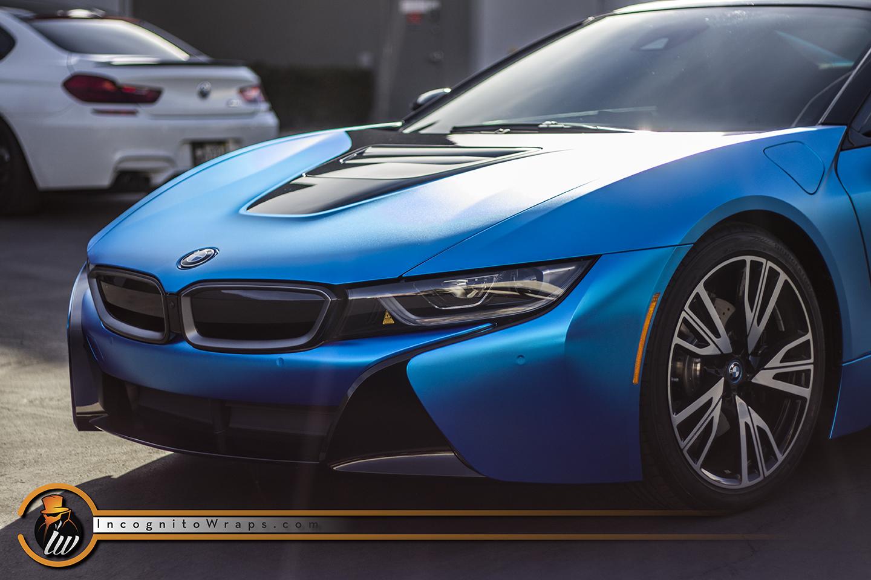 Bmw I8 Satin Blue Chrome Incognito Wraps