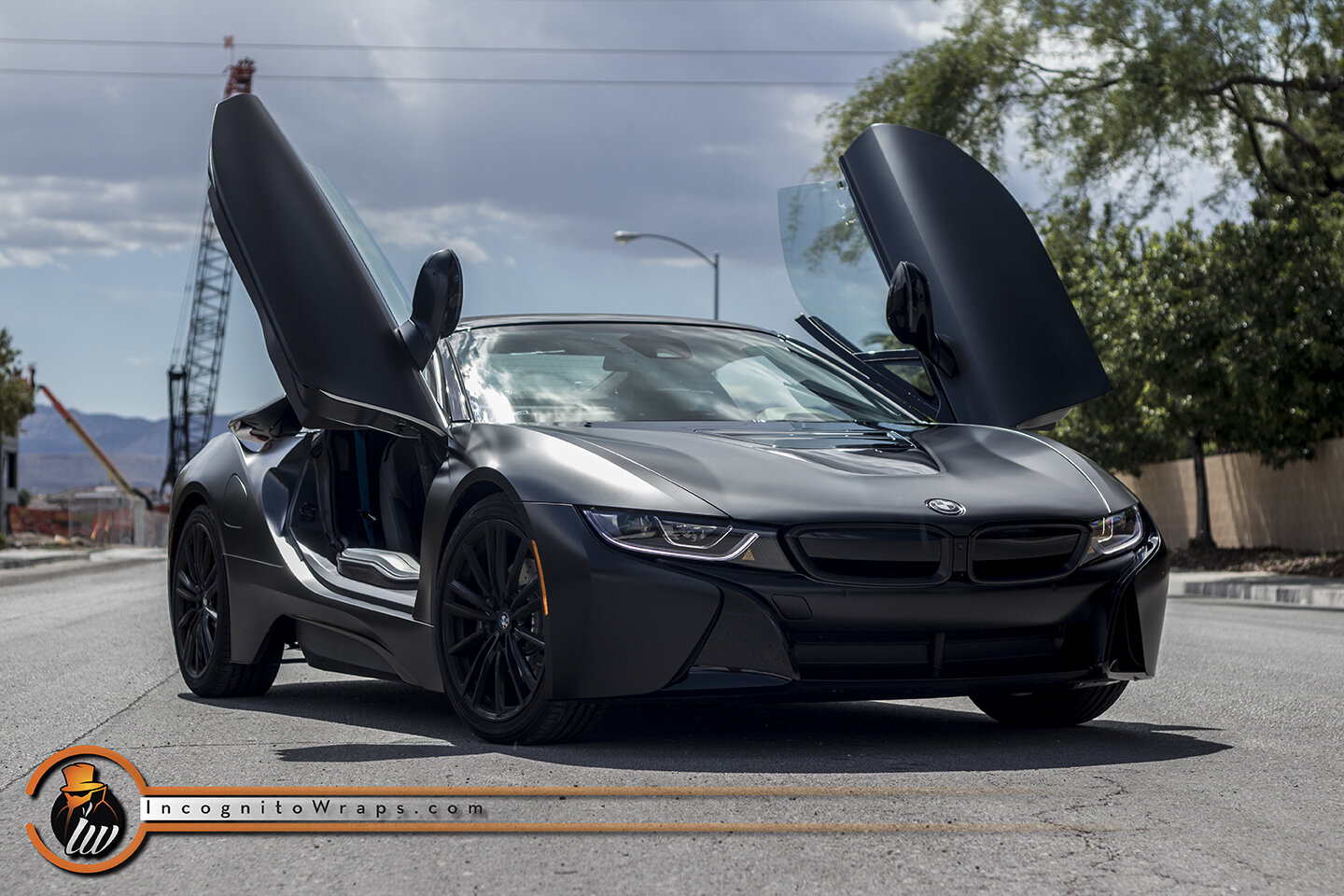 Bmw I8 Satin Black Incognito Wraps