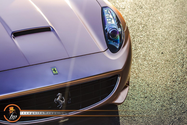 Ferrari California Satin Rose Gold Chrome Incognito Wraps