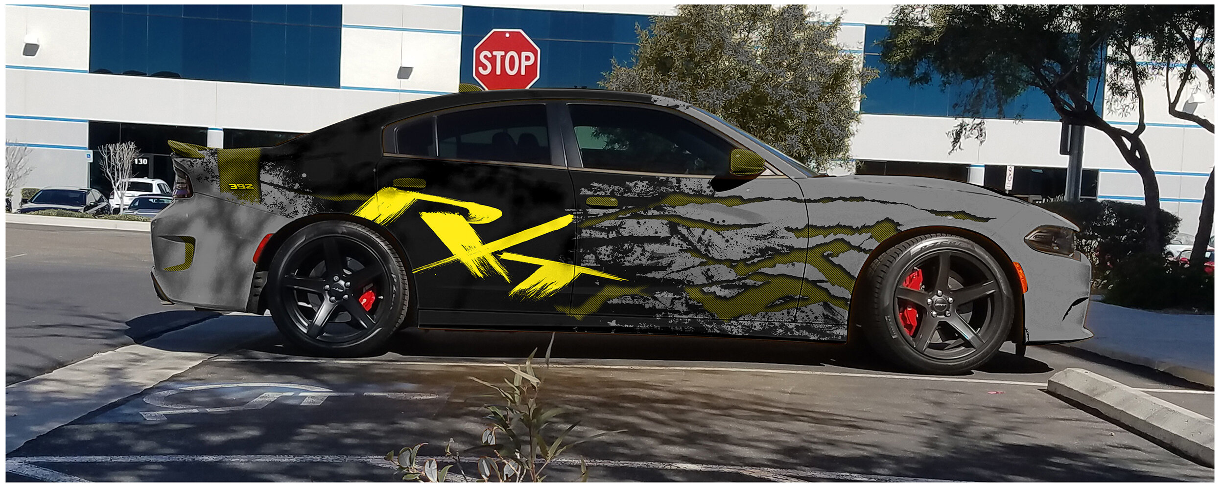 Splatterrt Wrap Full Wrap For 2016 2019 Dodge Charger Rt Incognito Wraps
