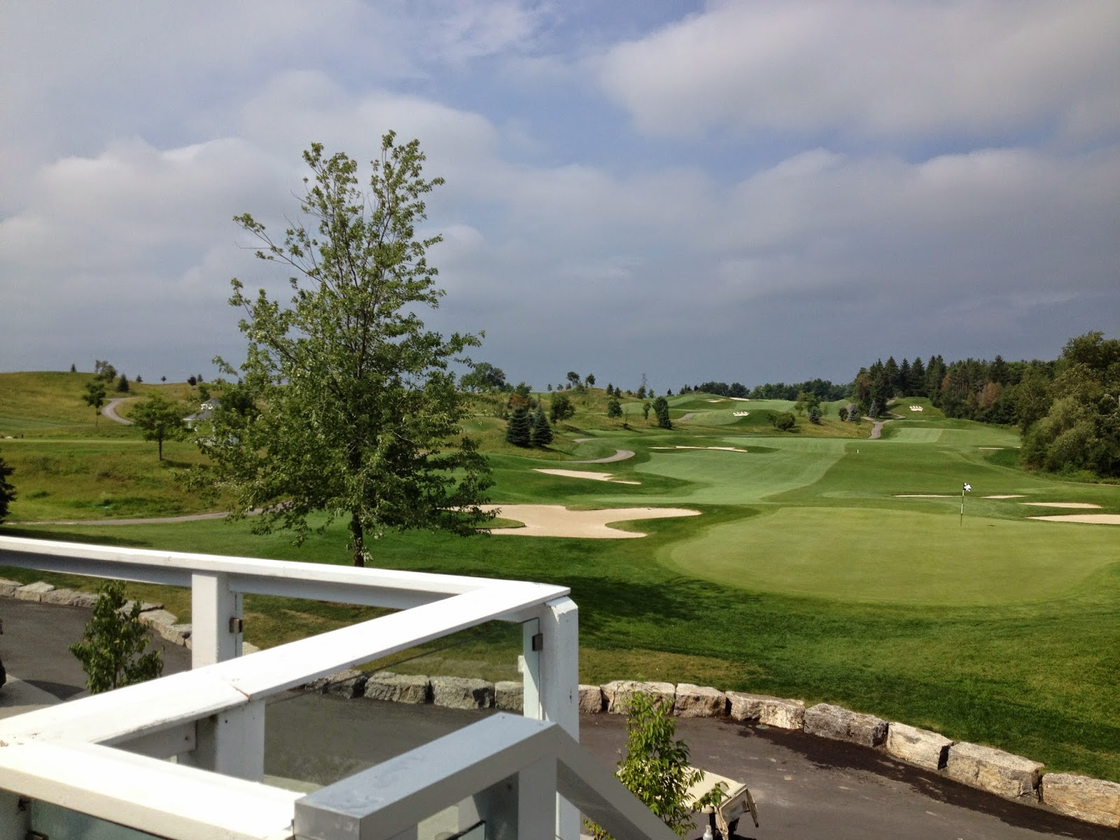 View from the Forestview Room Terrace at Whistle Bear Golf Club