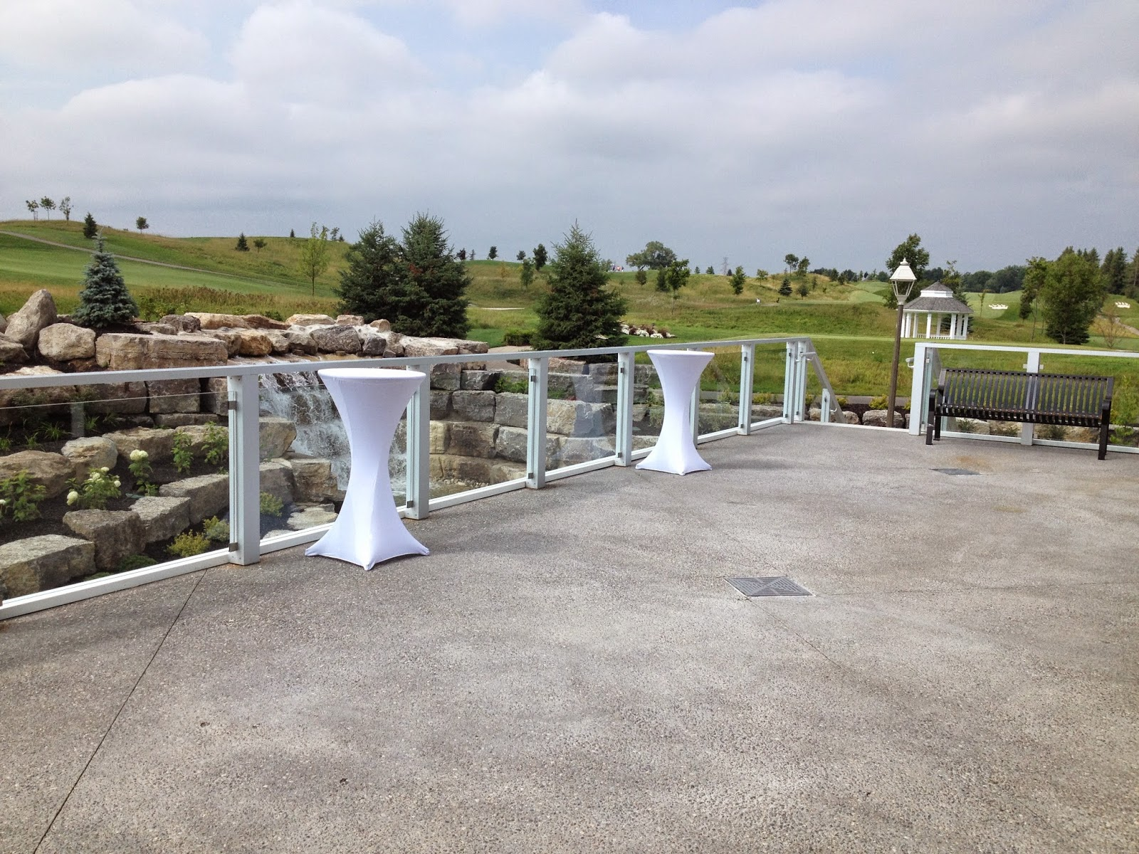 View from the Rose Room terrace at Whistle Bear Golf Club in Cambridge