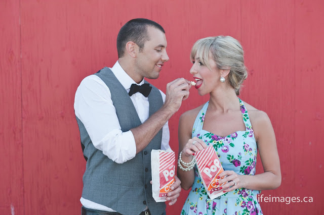 vintage movie drive-in theatre engagement session KJ & Co. weddings vintage beach picnic engagement session KJ and Co. wedding planner oakville burlington ontario, lifeimages life images photography engagement session