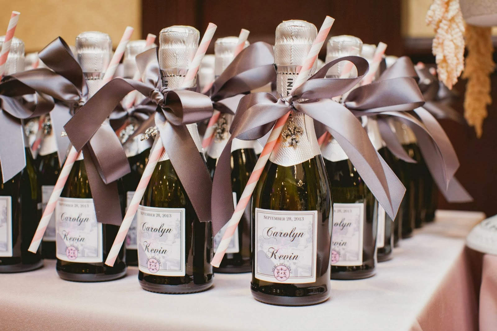 champagne wedding favour elizabeth in love casablanca winery inn grimsby wedding photos, kj and co wedding burlington ontario planner