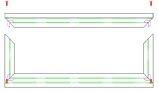 Figure 2 - Frame screws highlighted here.