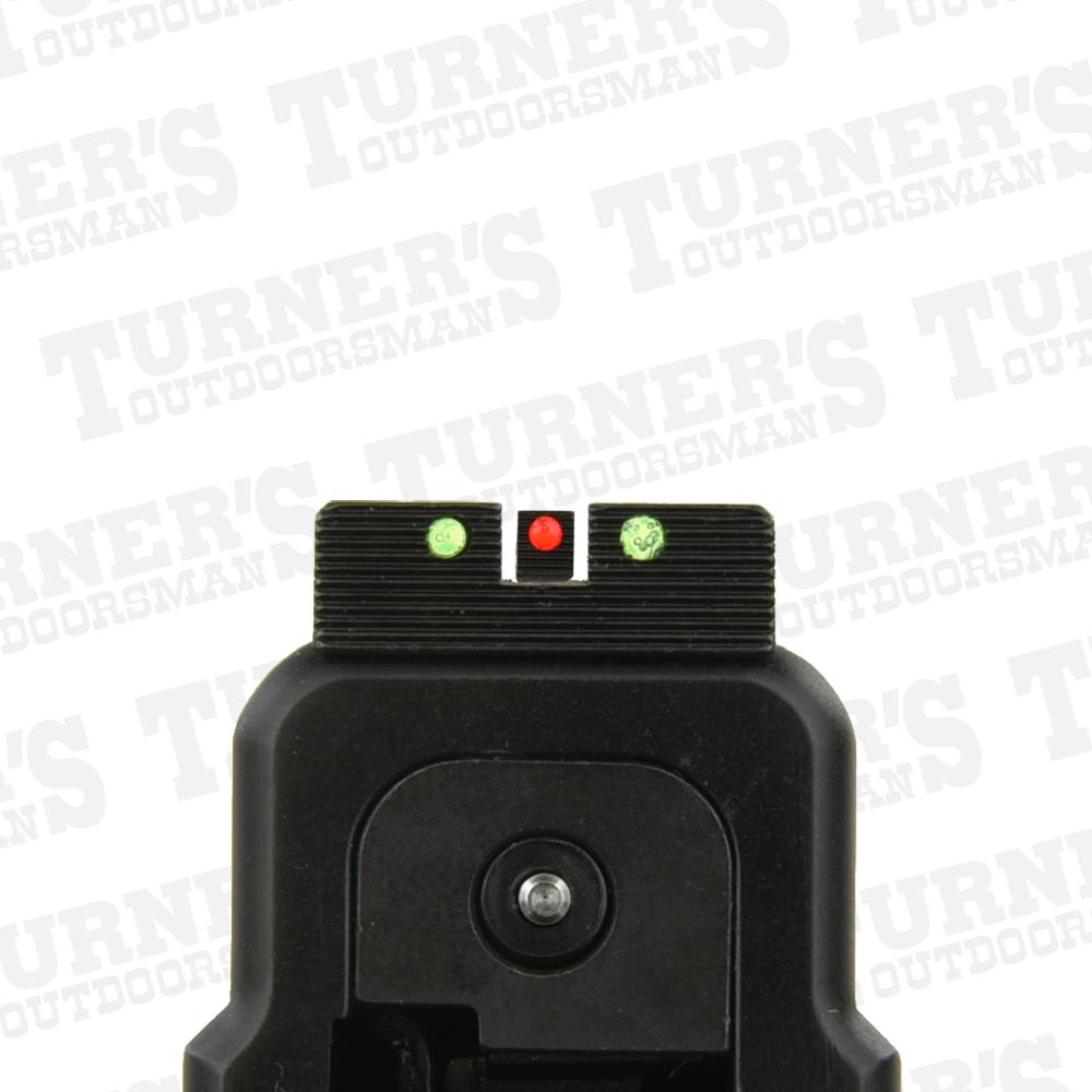 Red Front and Green Rear FO Sights on a  Springfield XD