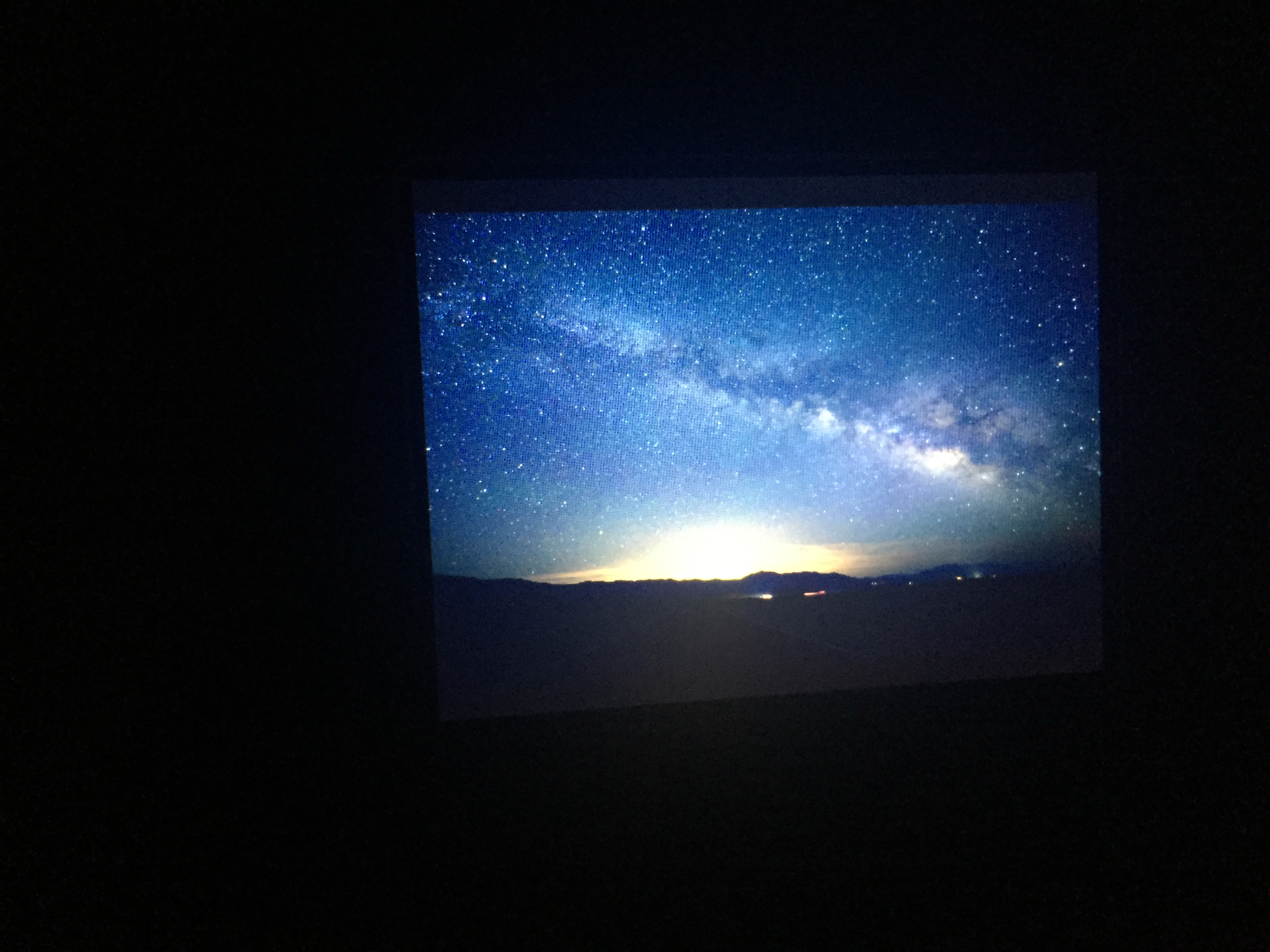 Photographer Mariusz Jeglinski shot this photo on the drive out that night of the sky. I took a picture of his monitor. To see this in person was unforgettable.