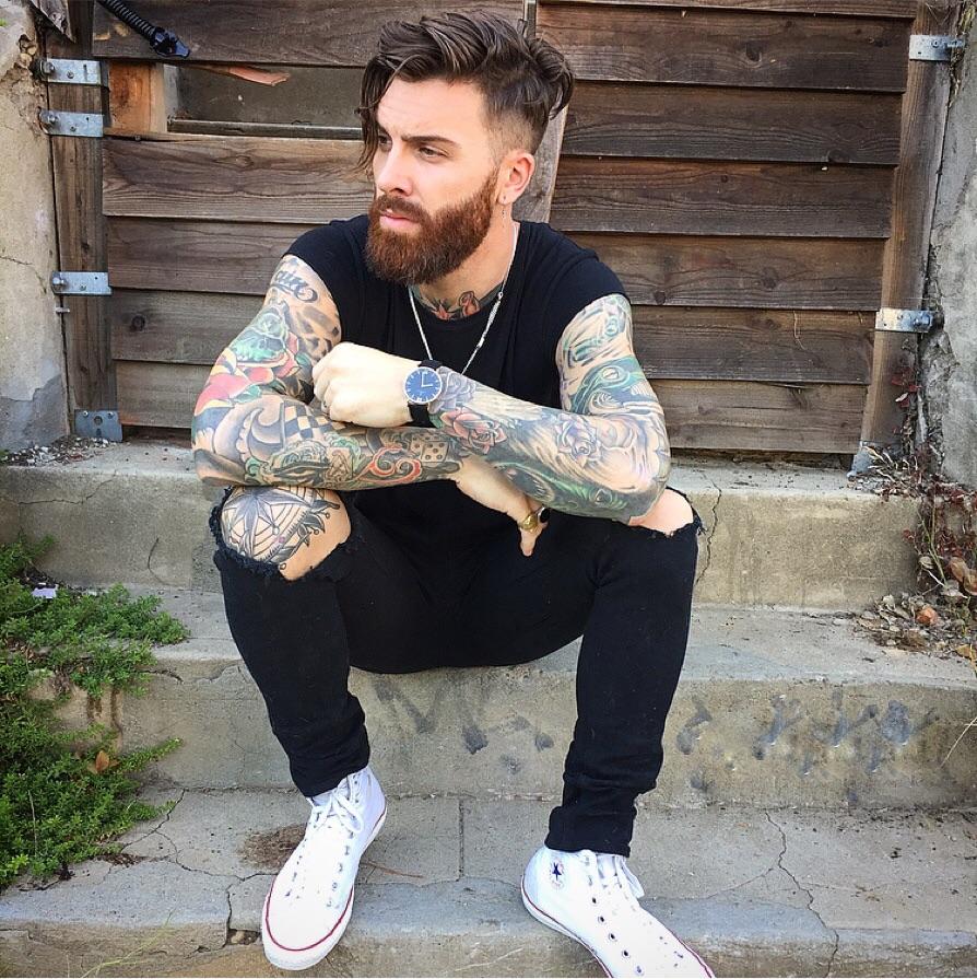 Shoes : Converse high top classics - shirt : Custom - watch : Kapten & Son