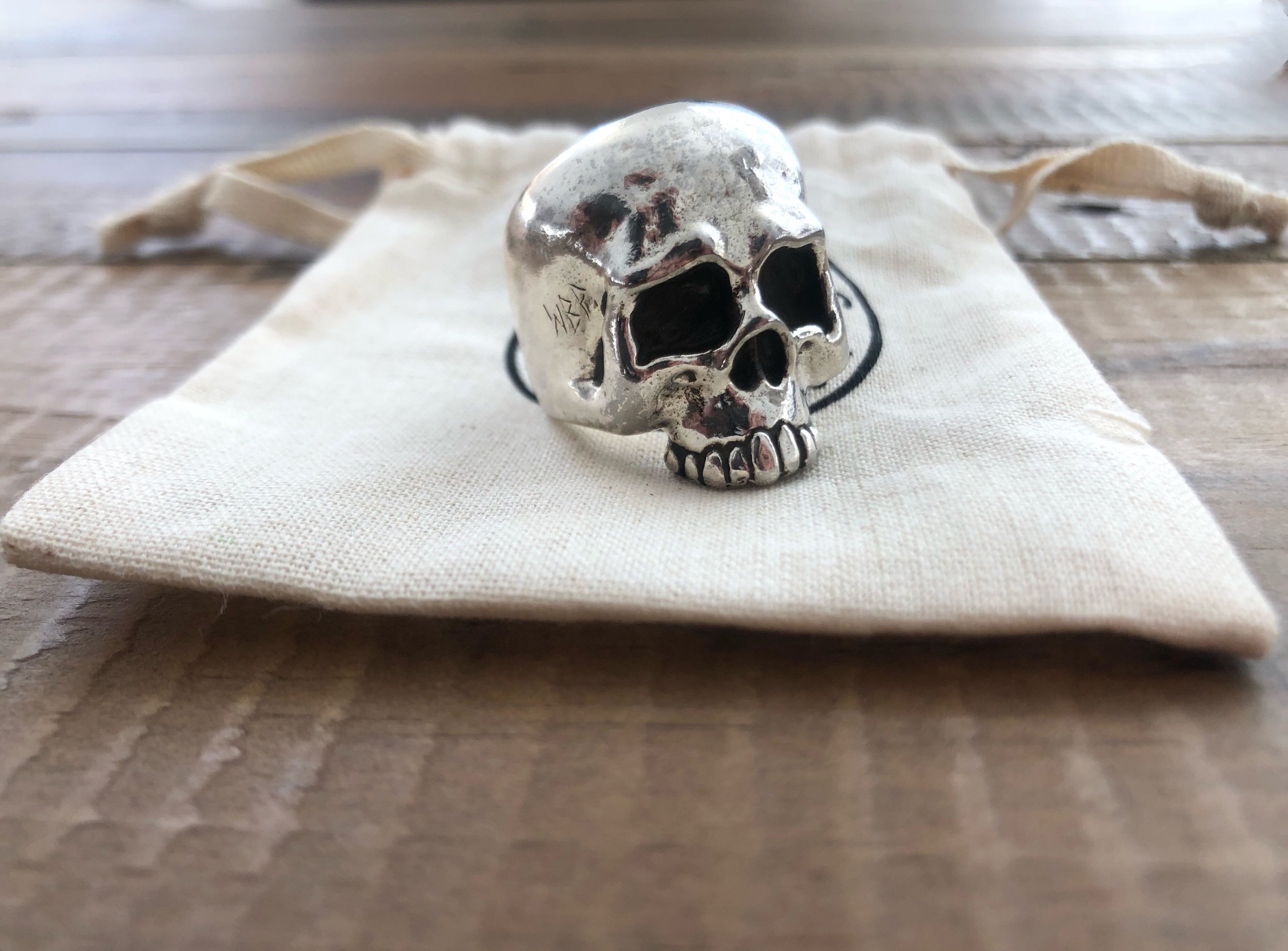 """Large and heavy weighted rings can easily become uncomfortable if they have been designed wrong. This """"Hooligan"""" ring that is pictured I sometimes forget is even on my finger and that is the way it should be. If you are on the market trying to find your next piece. Definitely consider giving them a try you will not be let down.    Cheers,  - LS"""