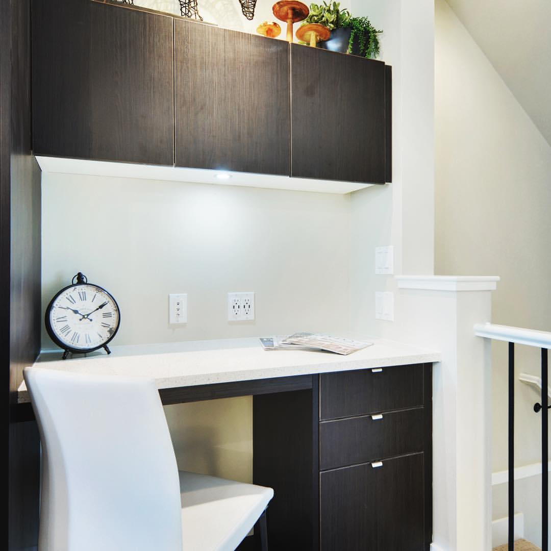 Workspace or Desk with Clock