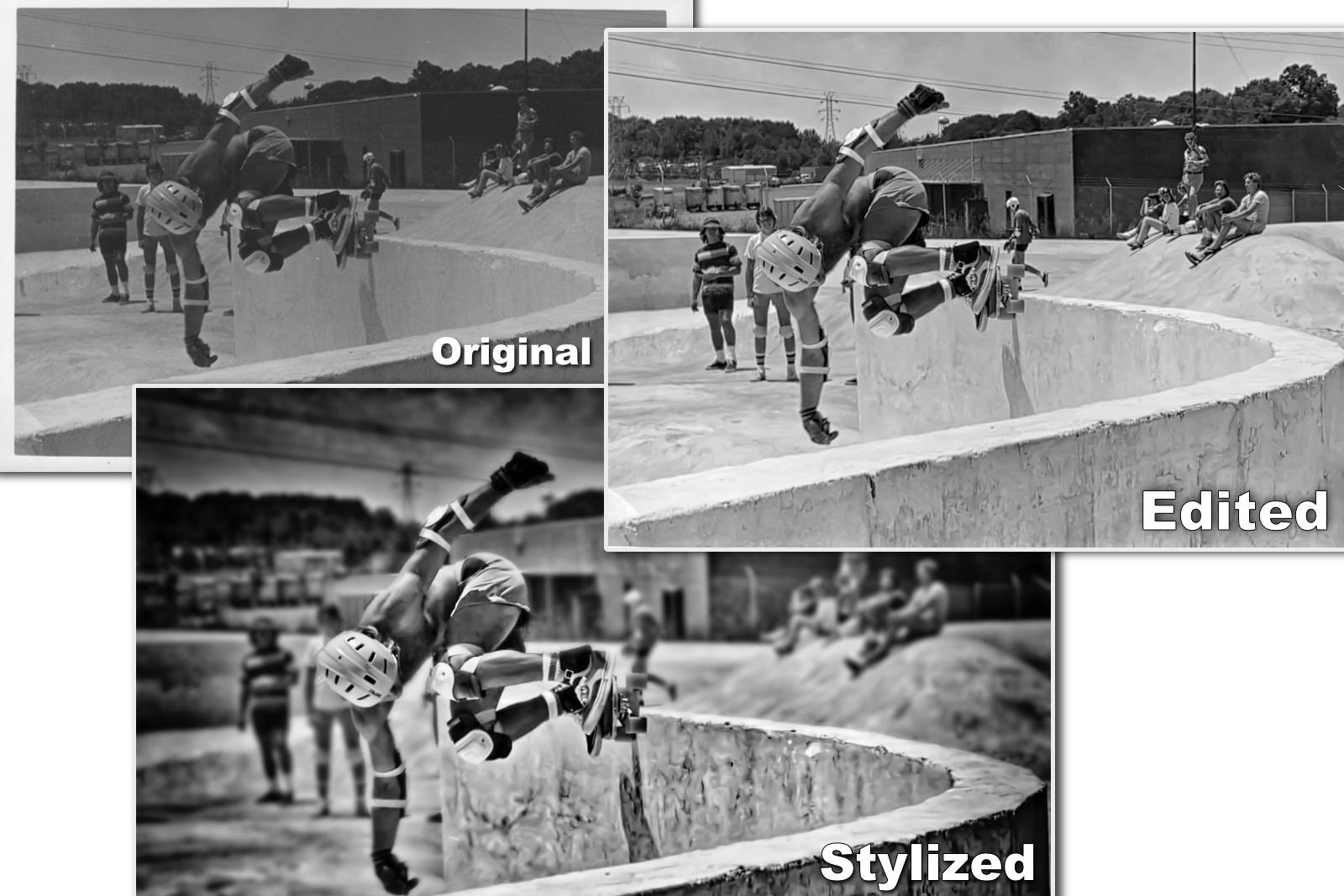 Skateboard Photo Restoration