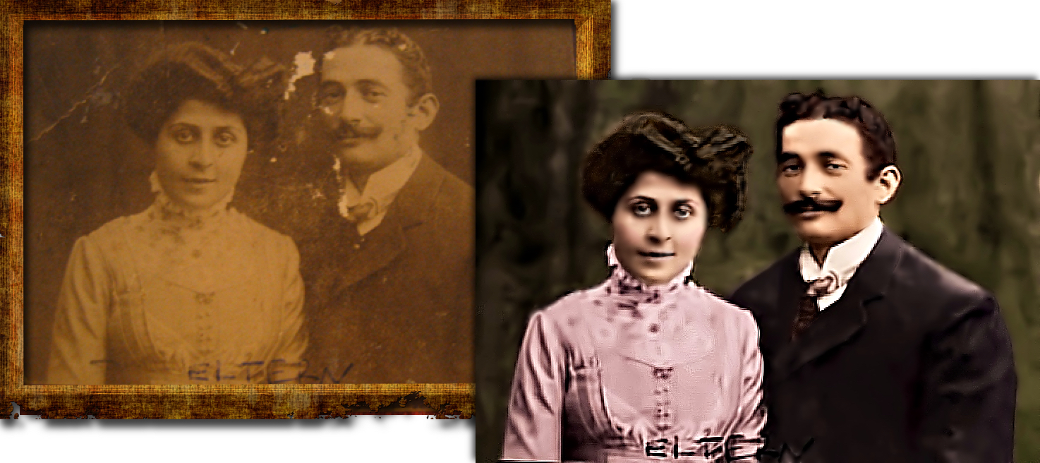 Vintage Couple Photo Restoration