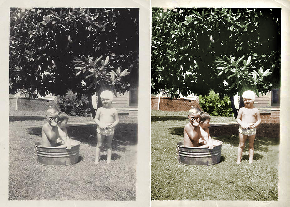 kids in tub colorized before after.jpg