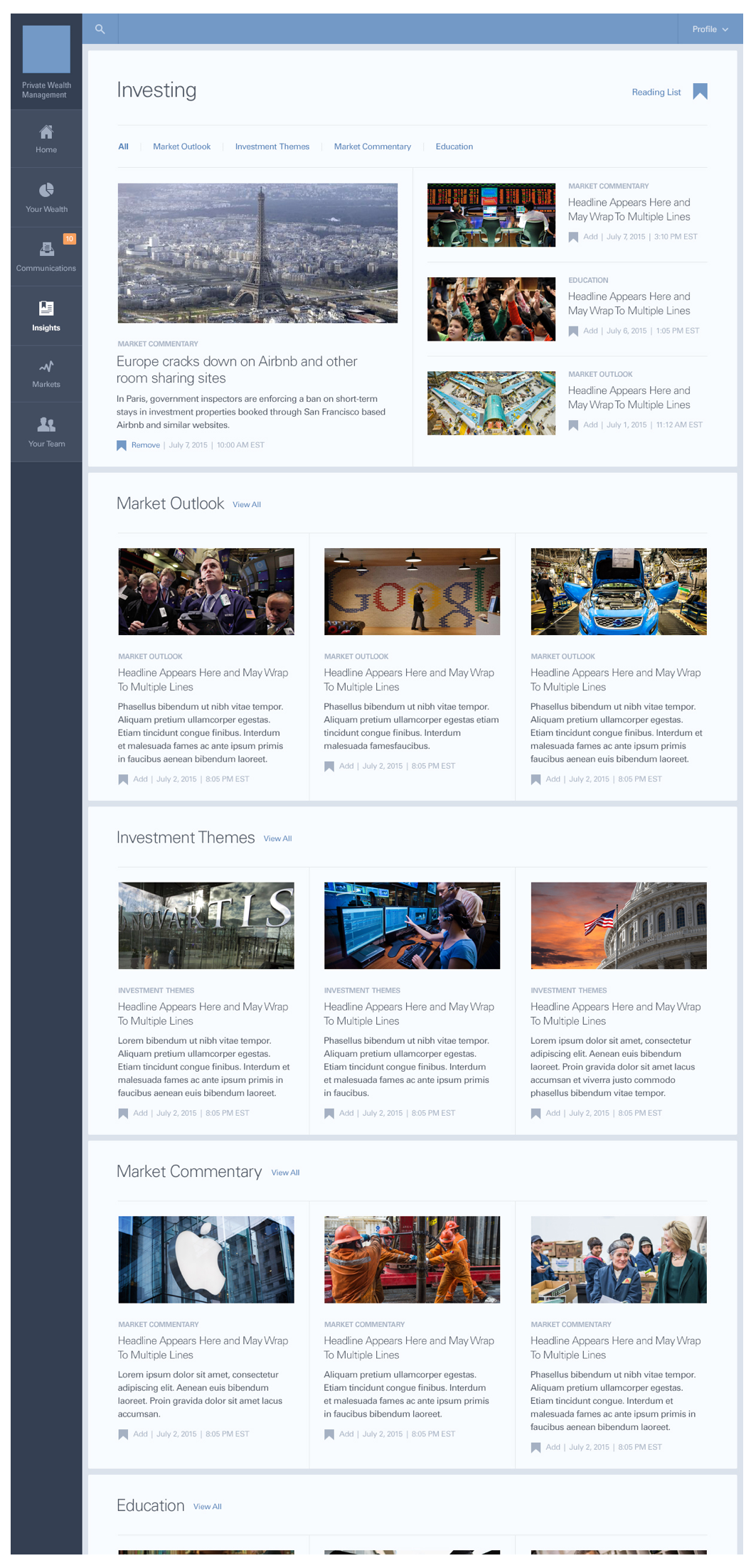 Insights Category Landing Page Color Composite