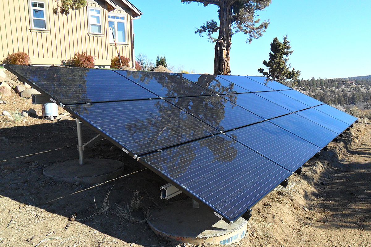 Ground mount array
