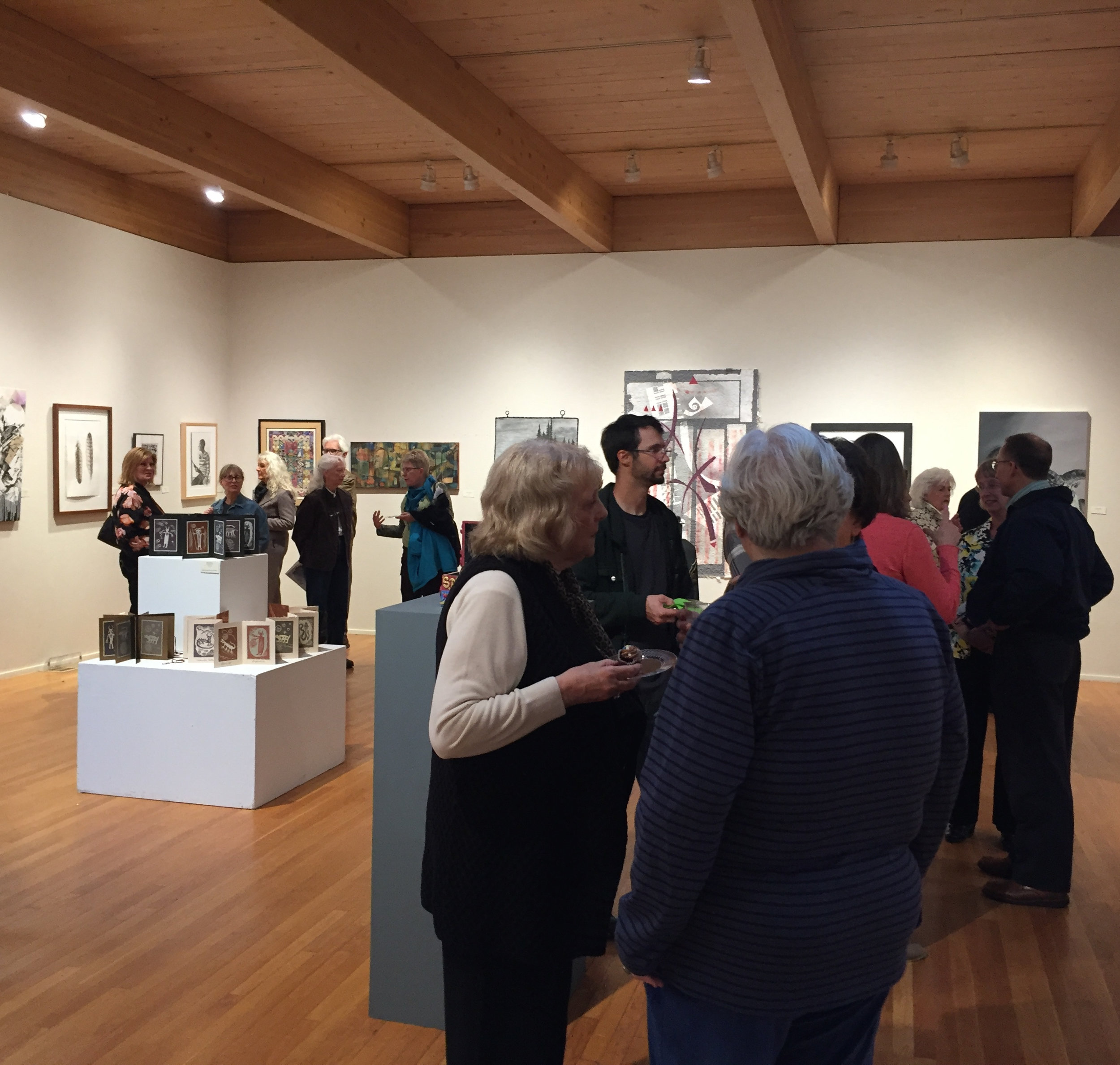A lot of Ohio-based talent packed into two floors of this gallery!