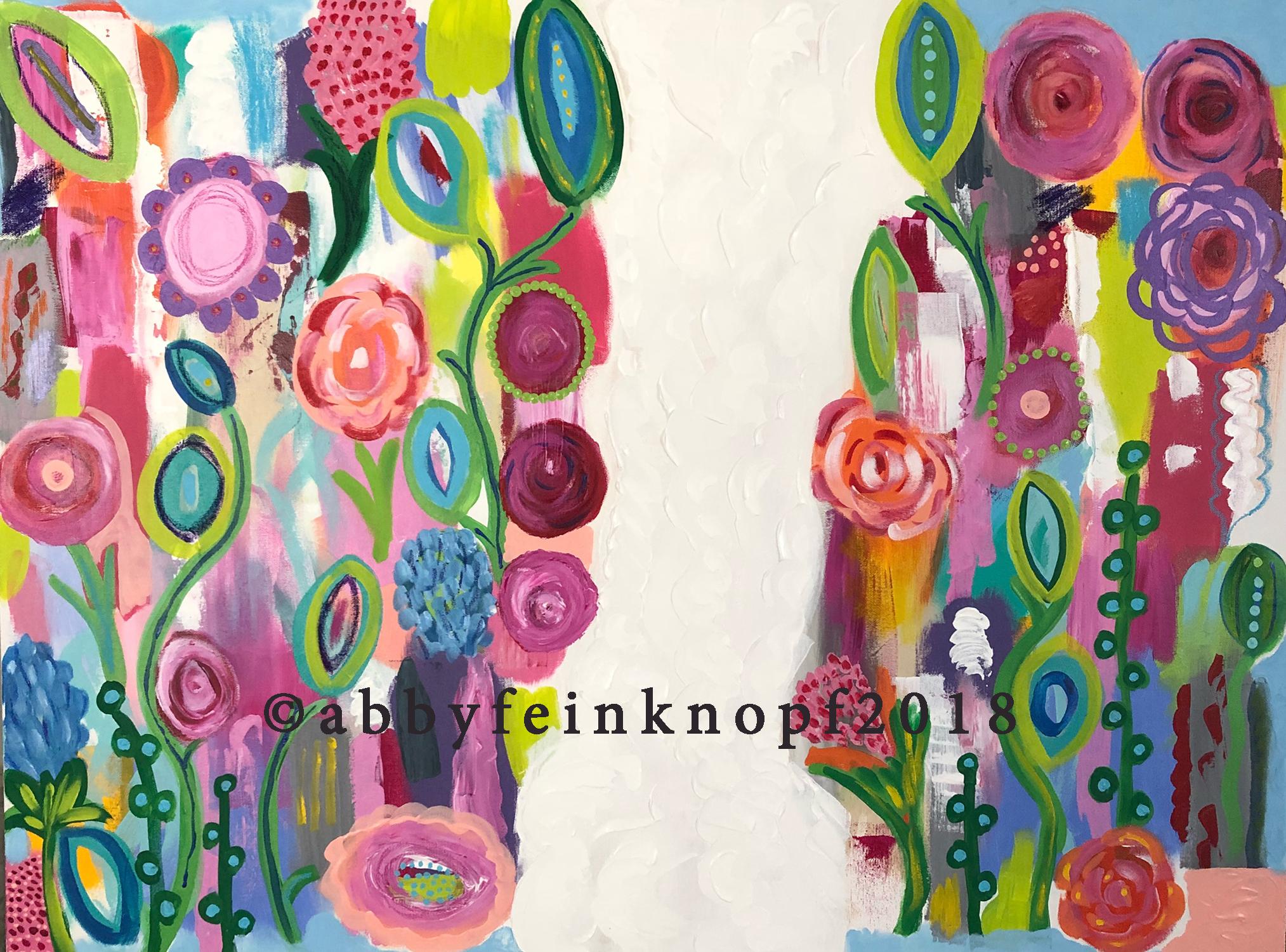 """""""Garden Path"""", Acrylic on canvas, 30x 40"""""""