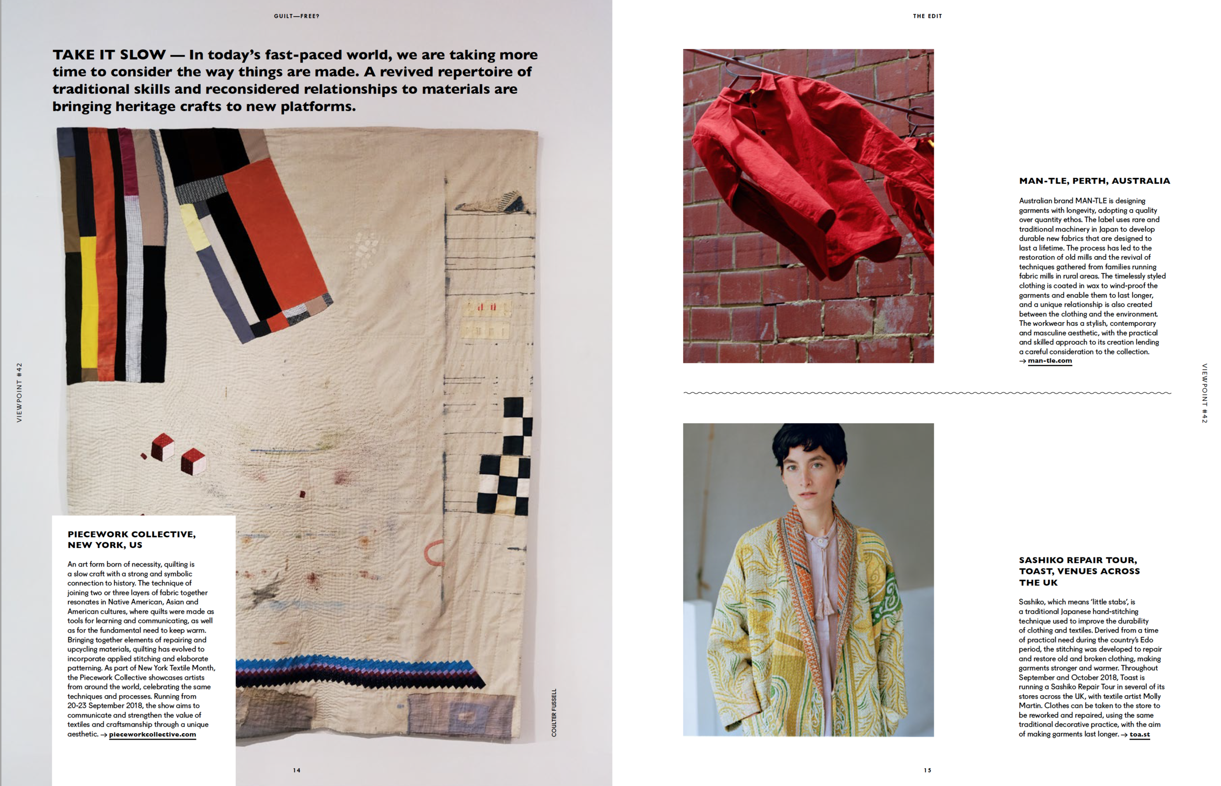 Group show feature in Viewpoint Magazine, 2018