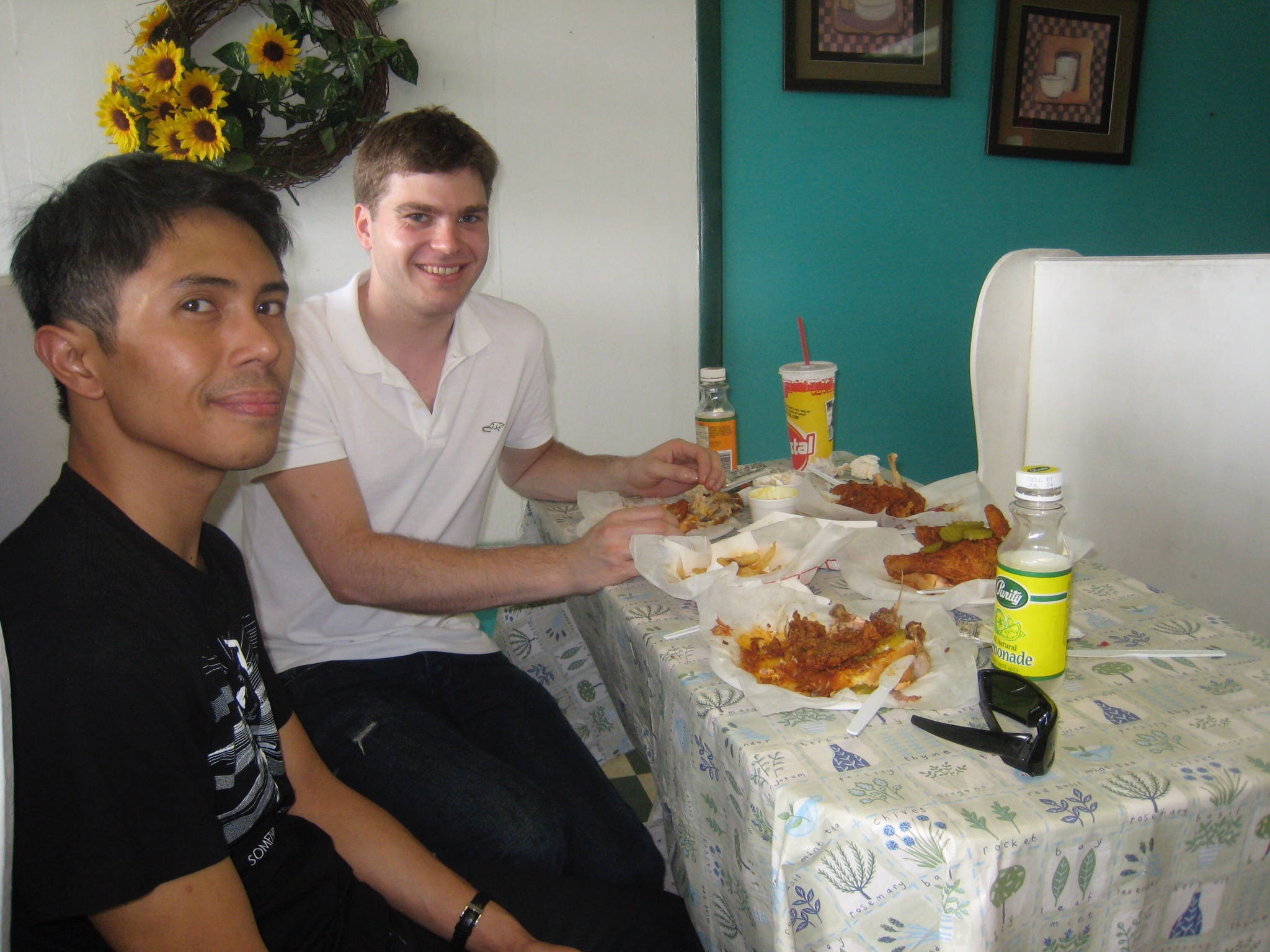 David & Matt enjoying Prince's Hot Chicken