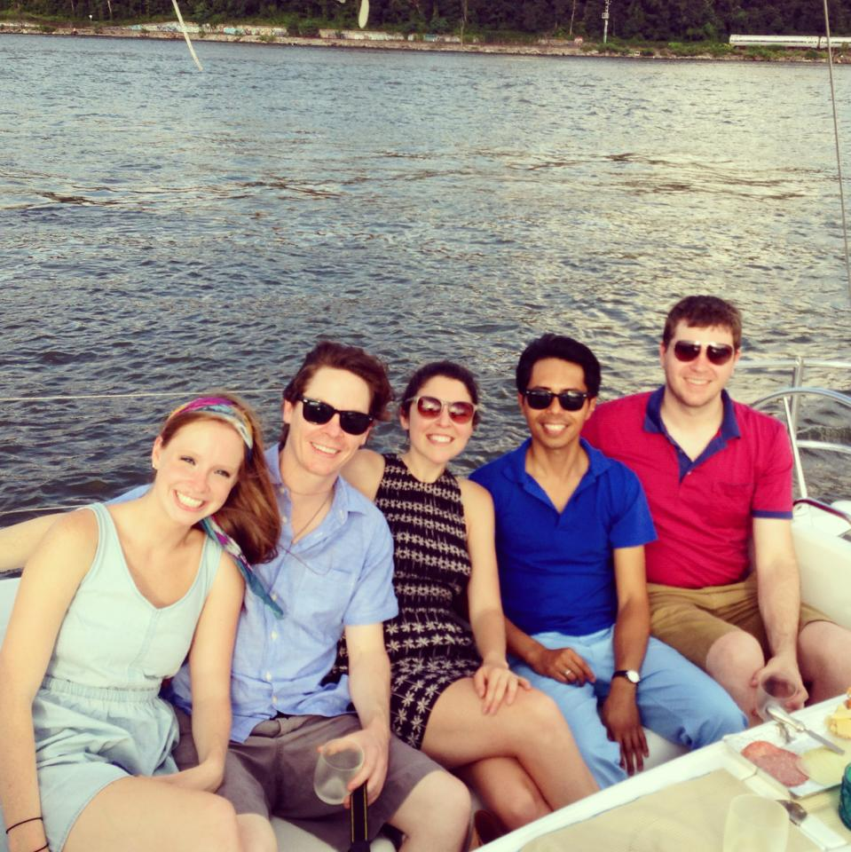 Sailing down the Hudson River with Robert, Kelley Anne & Celeste
