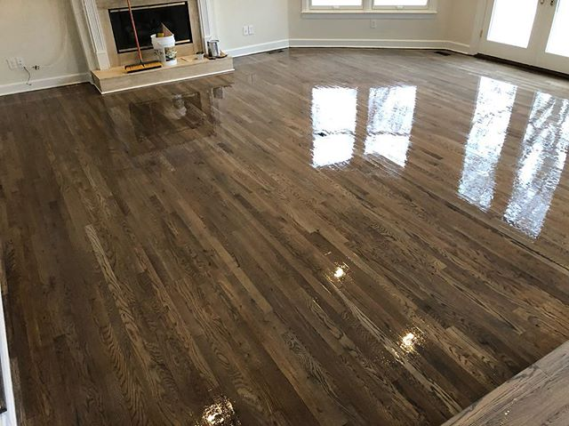 Bona Dark Gray on 🔥🔥🔥 @bona_pro #renovation #restoration #floor