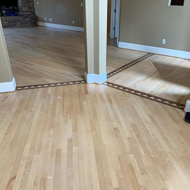 Beautiful maple floors finished up !! Amber seal with boba mega one over maple hardwood . Love the way this turned out #hardwoodfloorsnashville #bona #sandandfinish #nashvillehardwood