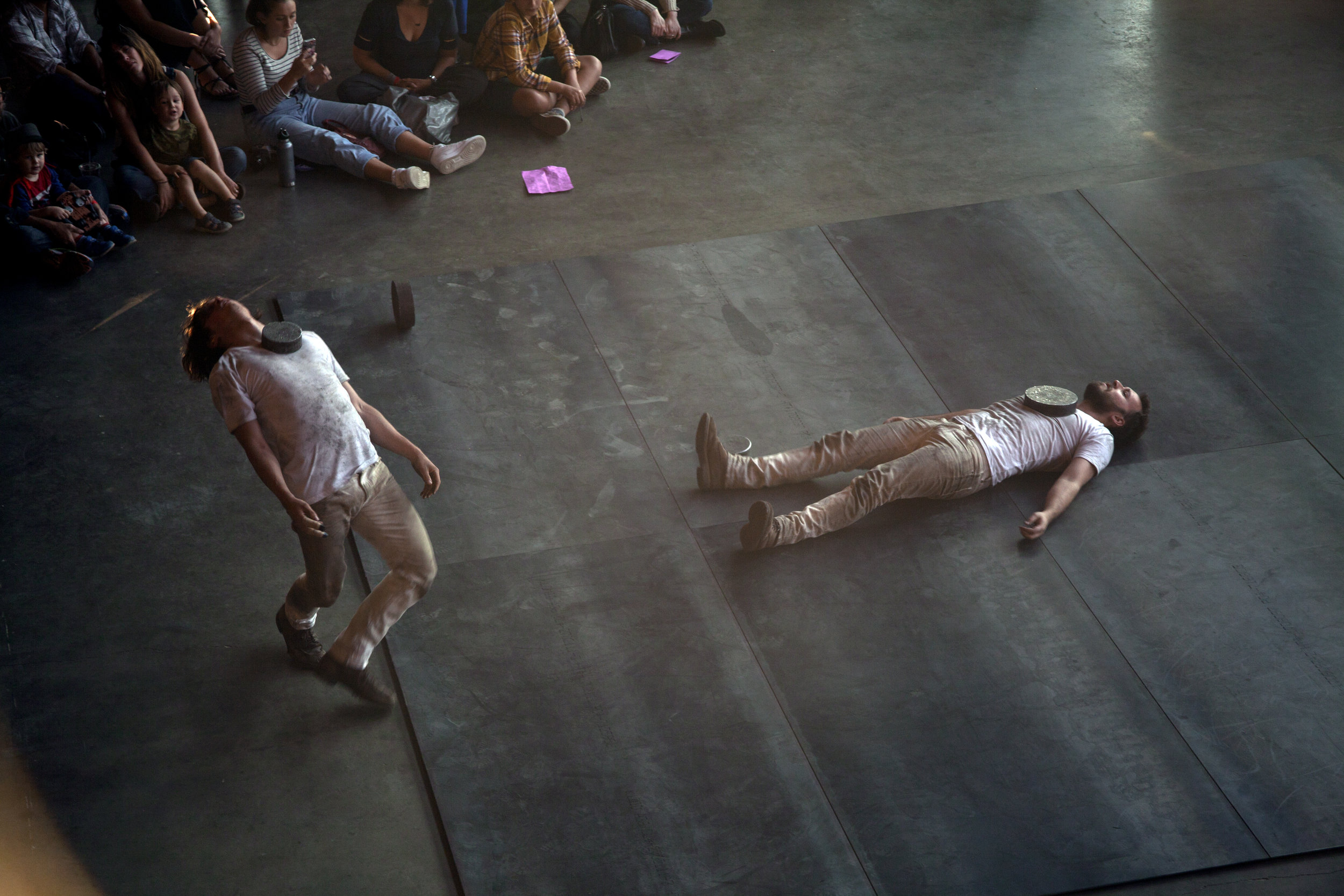 Performance documentation from when  For the toward  was performed at Pioneer Works in New York City. 2017.
