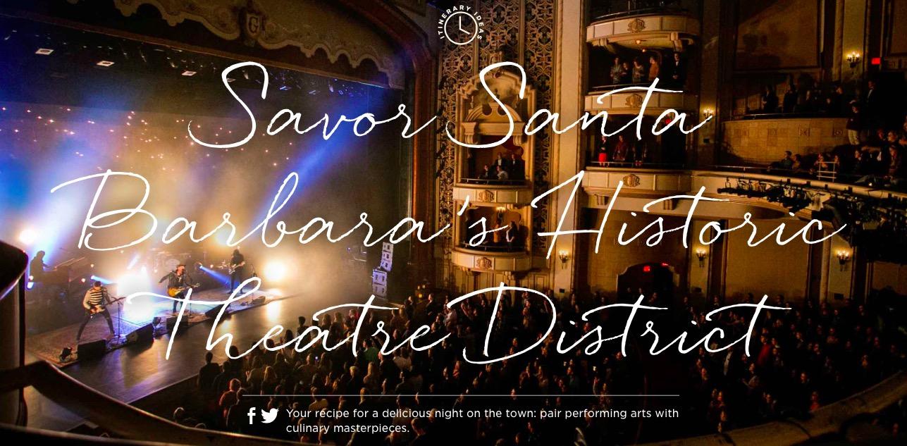 Santa Barbara's Historic Theater District The Lobero Theater, Ensemble Theater, and The Granada are all close by!               #SeeSB -