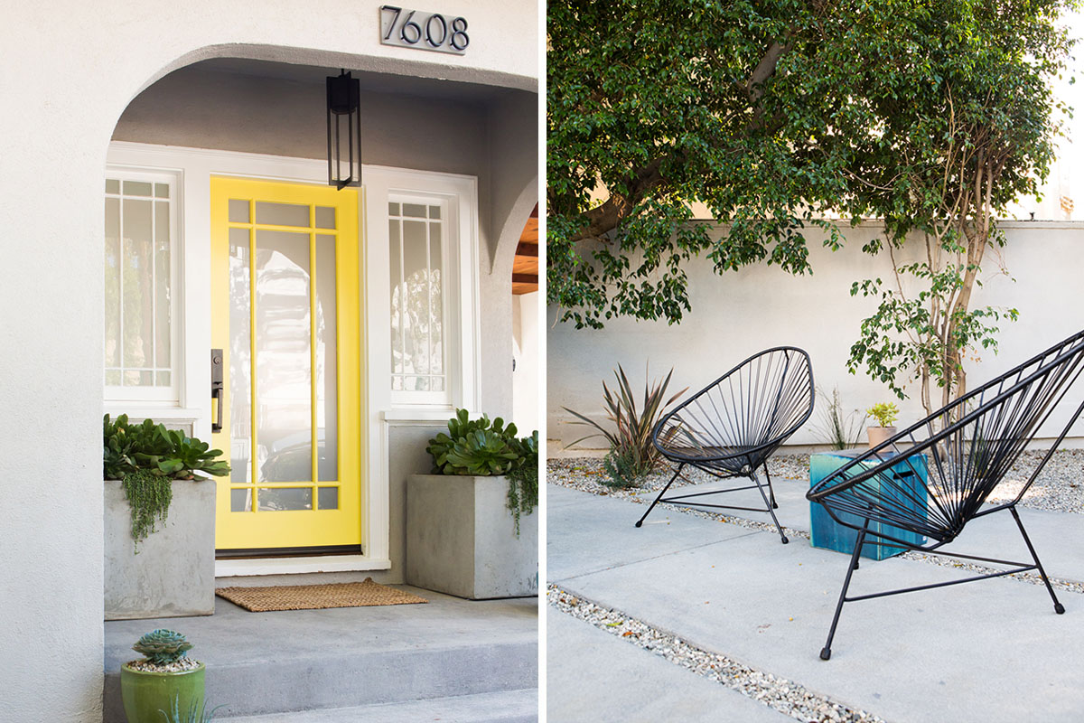 1 Craftsman Bungalow Cute Yellow Entry Casual Chic.jpg