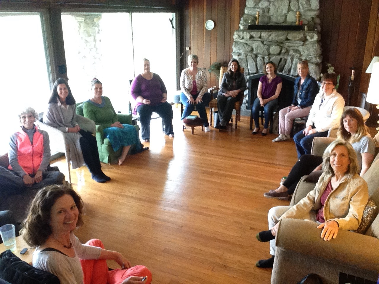Each group meeting is intimate and has anywhere from 5- 10 people in attendance.