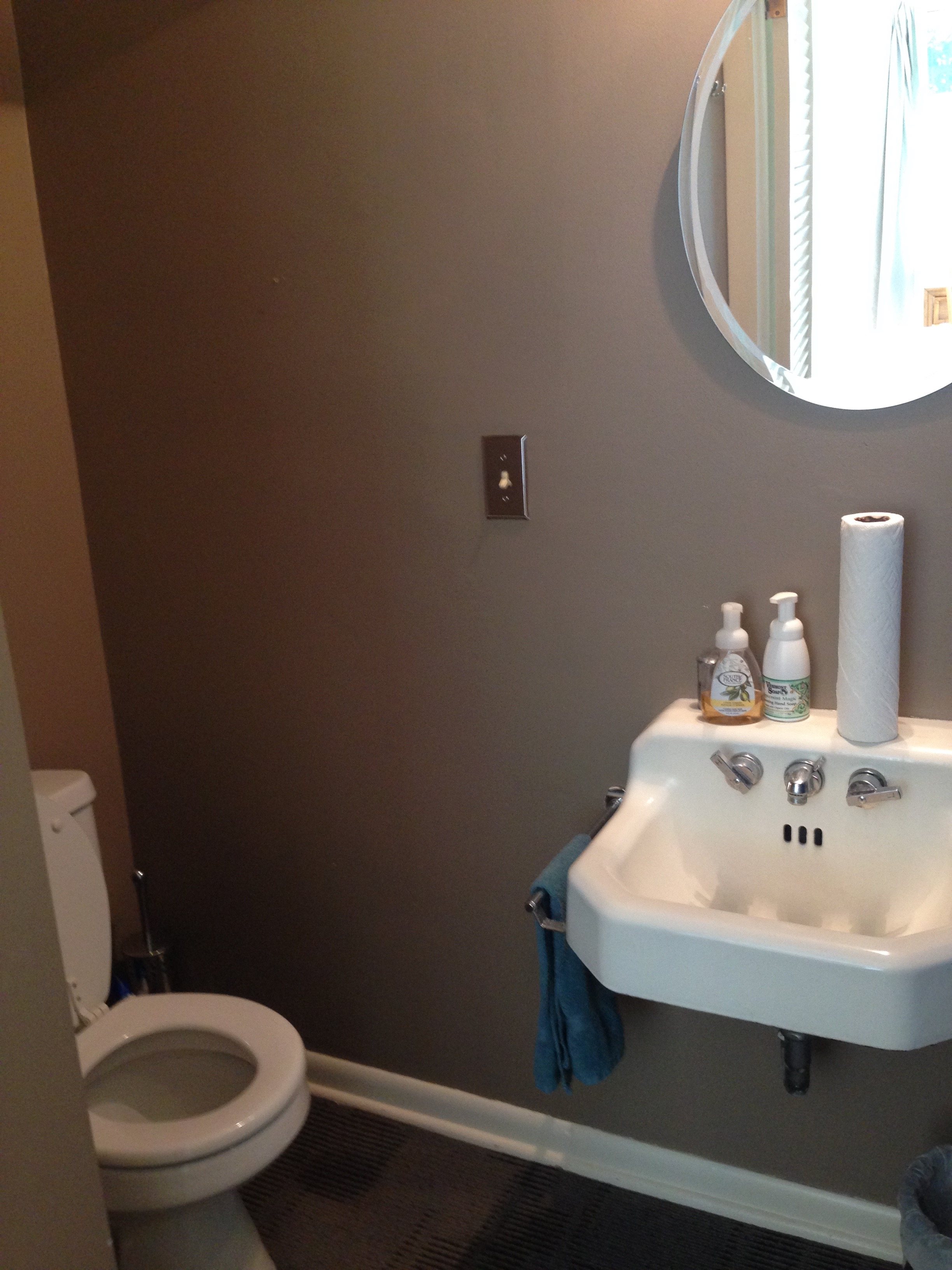1/2 bath attached to private bedroom.
