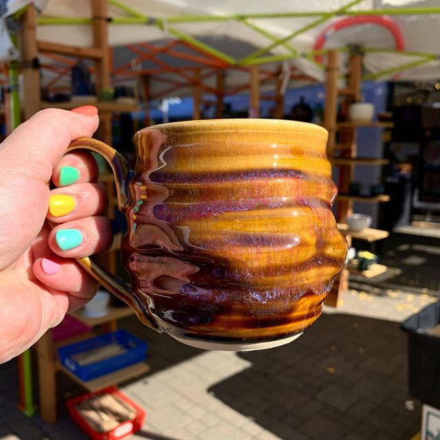 A little different shape. Love the color. #muglife #mugshot #potterymug #mugaddict #mugoftheday #handmade #potterylife #potteryaddict #potteryart #potterystudio #potterydesign #potterymaking #ceramiche #ceramiclife #ceramicist #ceramicarts #ceramicsofinstagram #ceramicglaze #washingtonian #outdoor #pnw #ourpnw #pnwlove #pnwadventure #pottersofinstagram #superpotlady #progressoverperfection #cone6oxidation #wheelthrown #handmadeceramics
