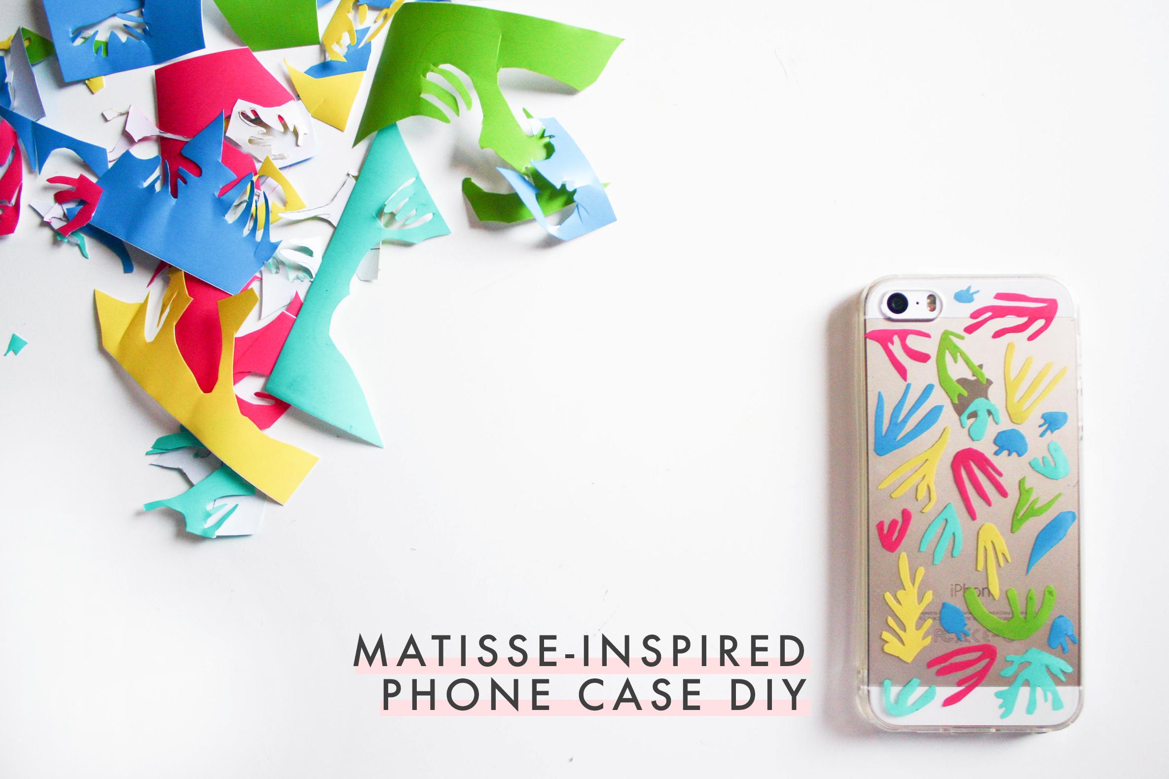 matisse-inspired phone case diy