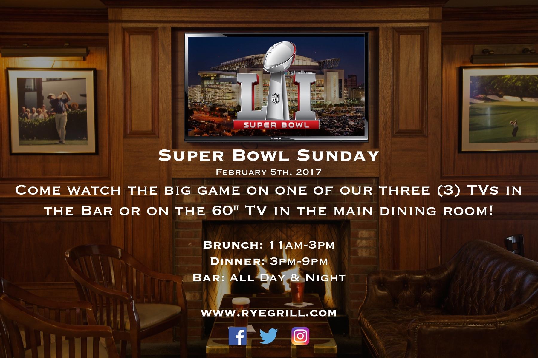 Rye Grill Super Bowl 1