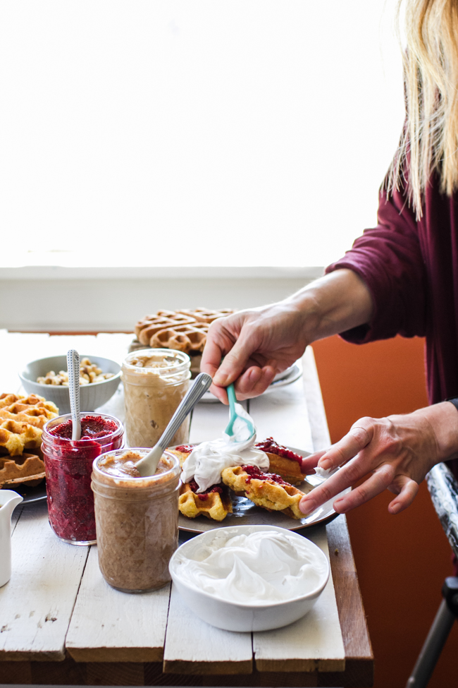 Waffle Brunch Party | edibleperspective.com