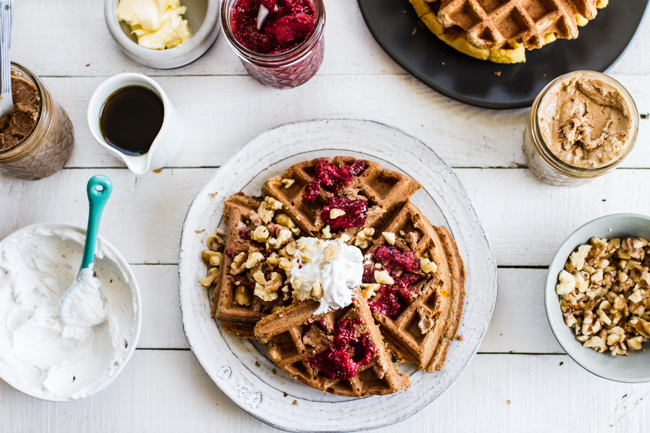 Carrot Cake Waffles | edibleperspective.com