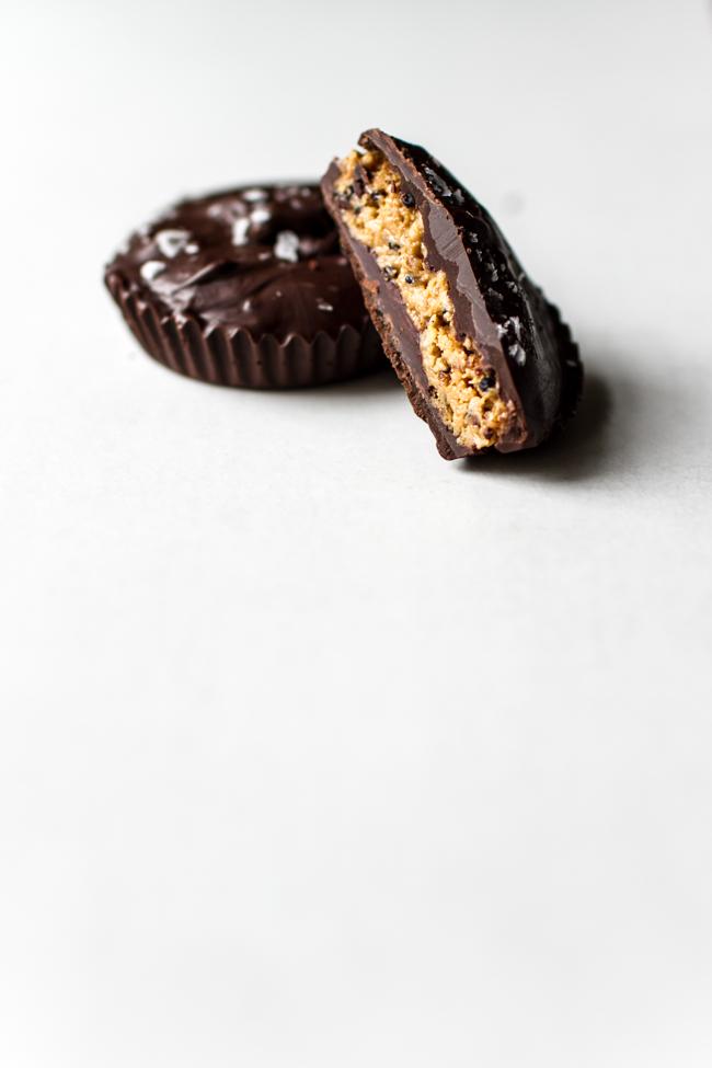 Quinoa + Coconut Crispy Peanut Butter Cups | edibleperspective.com