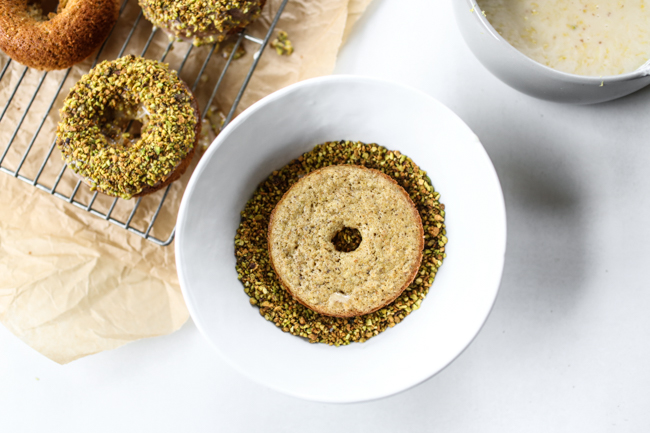 Lemon Pistachio Donuts for National Donut Day | edibleperspective.com